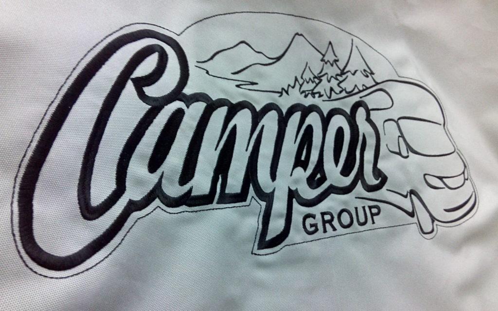 Вышивка на чехол для заднего колеса Camper Group
