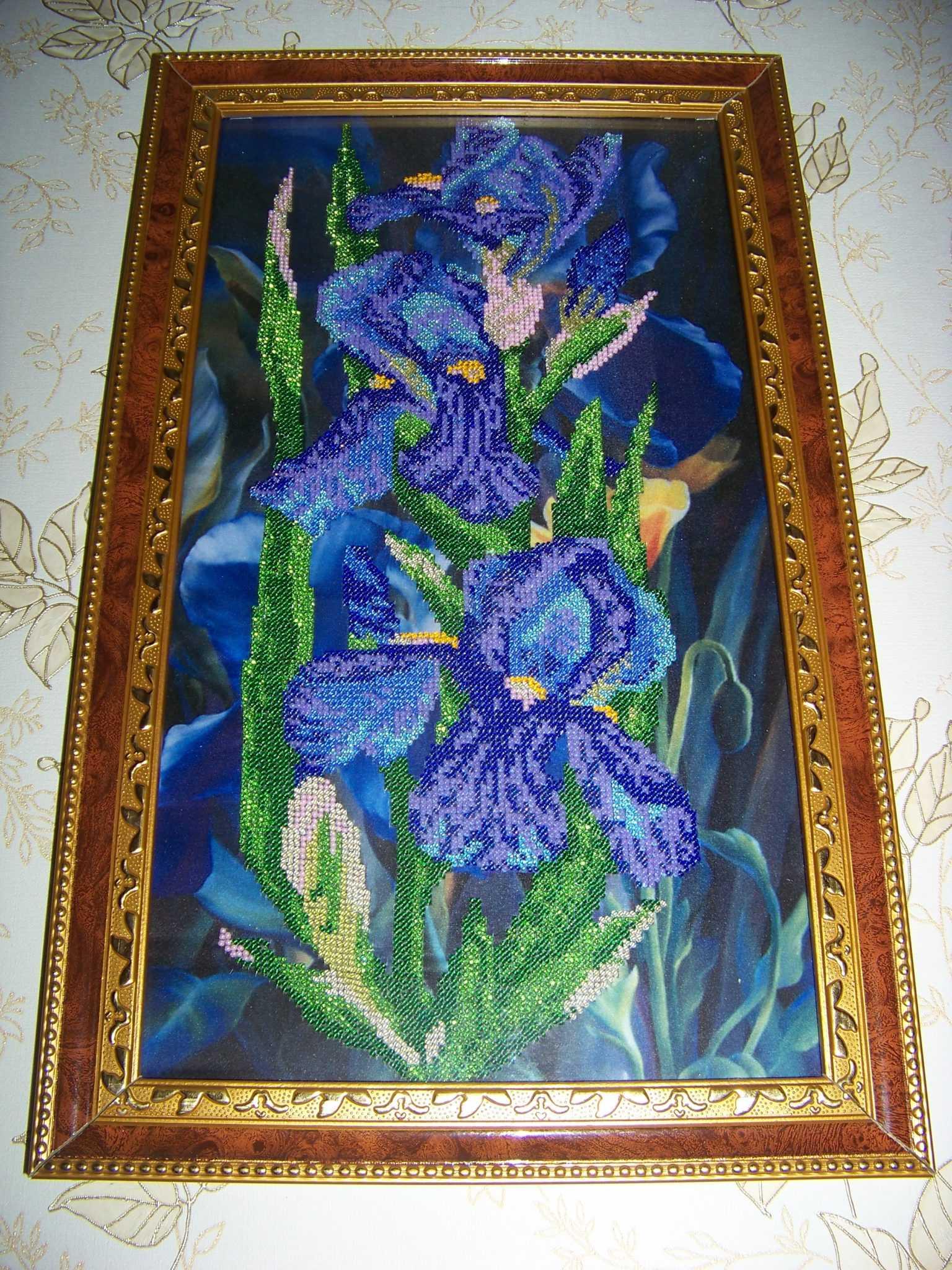 Картина бисером Ирисы