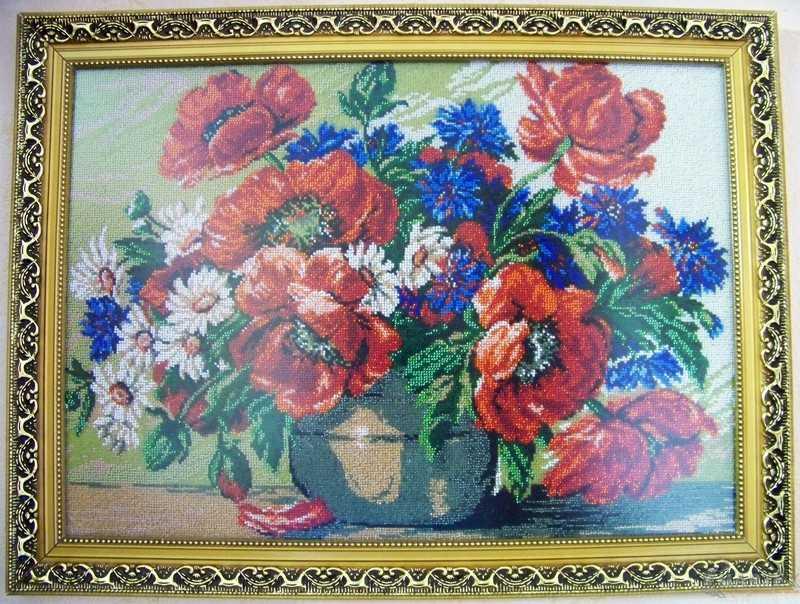 Картина бисером Маки