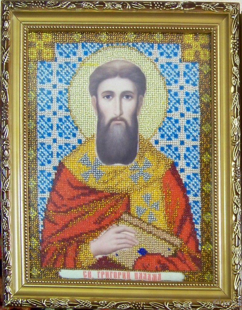 Иконы бисером Святой Георгий Палама