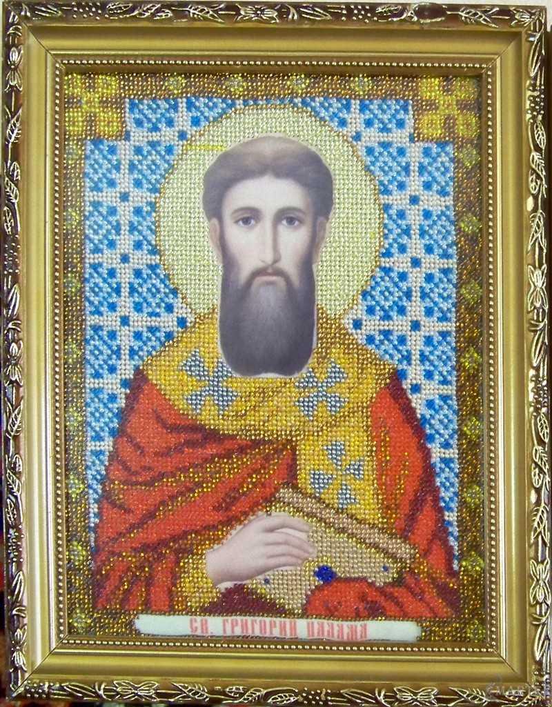 Икона бисером Святой Георгий Палама
