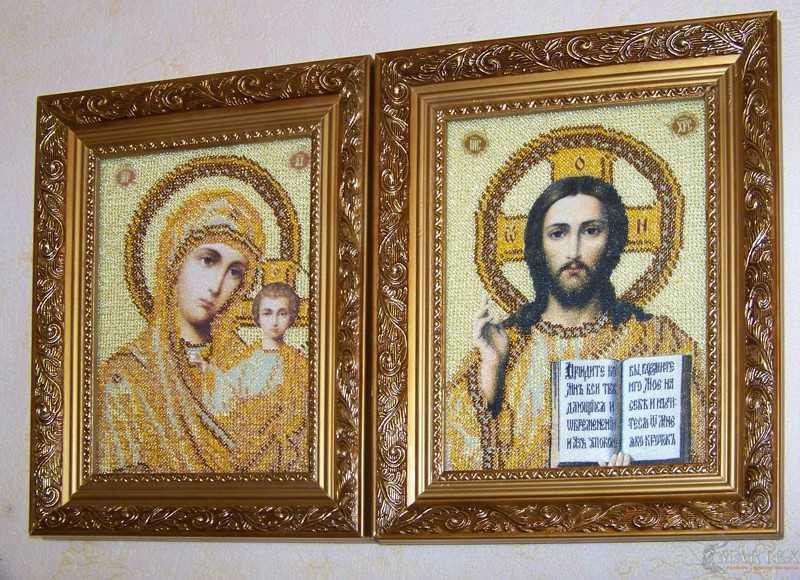 Иконы бисером Венчальные иконы