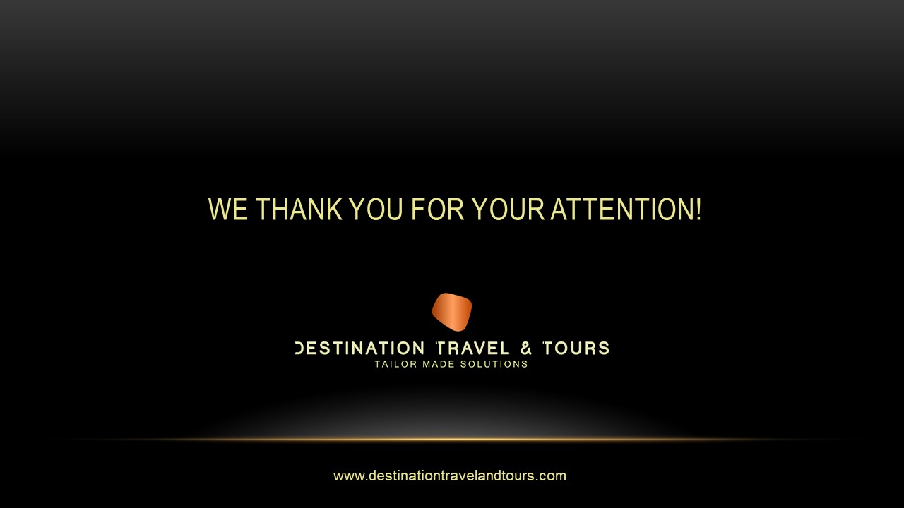 Презентация компании Destination Travel and Tours